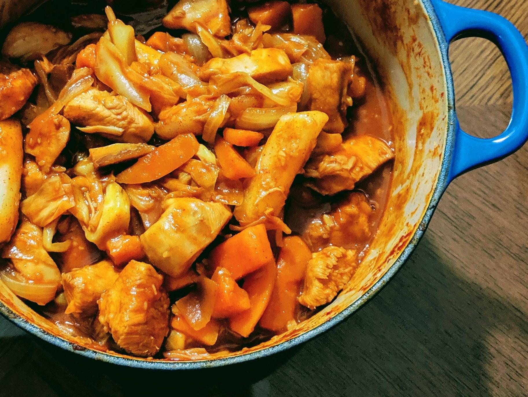 韓式辣炒雞肉-成功