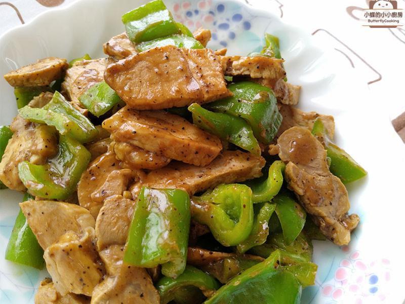 黑椒豬肉炒青椒~祭拜三牲豬變化料理