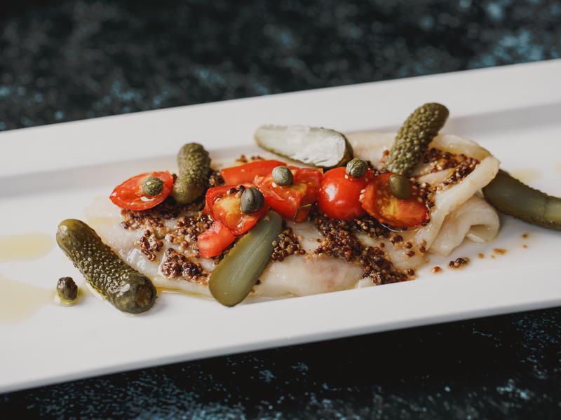 低醣料理 <海鮮>法式芥末籽醬烤多利魚