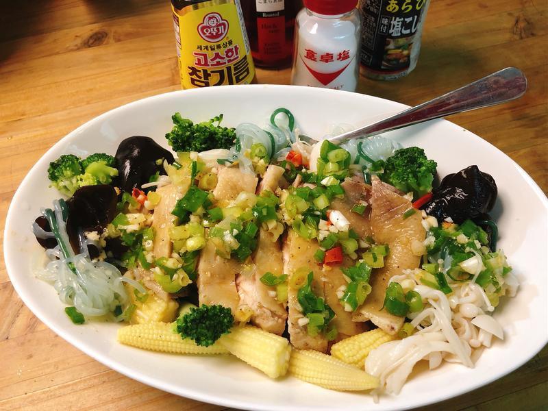 減醣餐桌-椒香鹽水雞