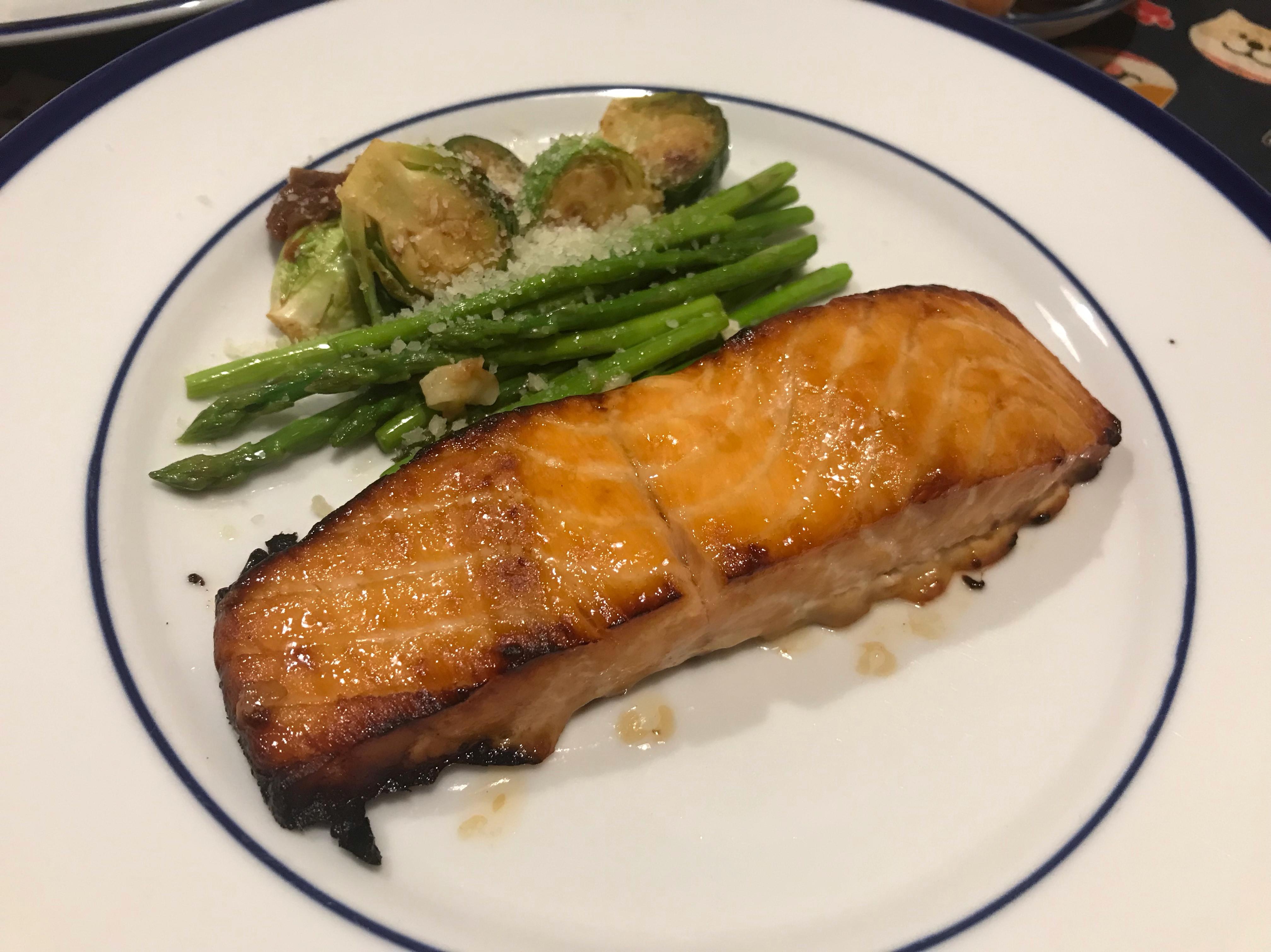 焦糖鮭魚(水波爐)