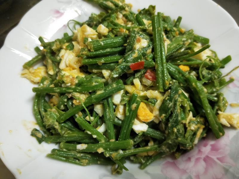 鹹蛋龍鬚菜