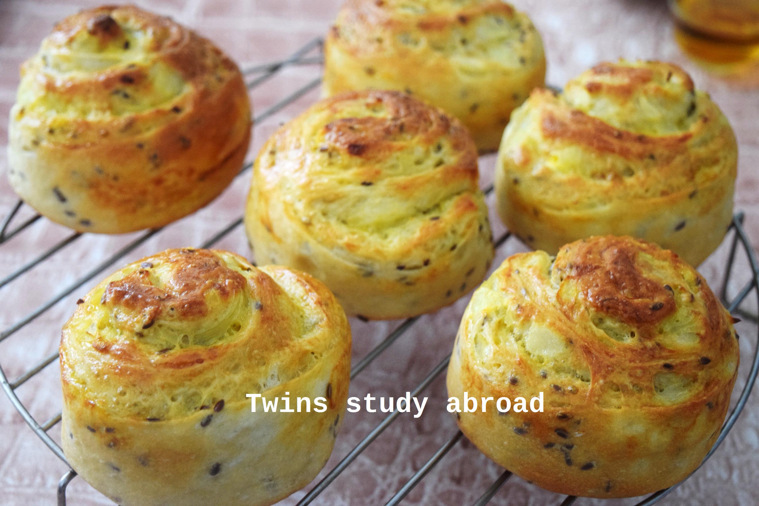 洋蔥/起司螺旋麵包