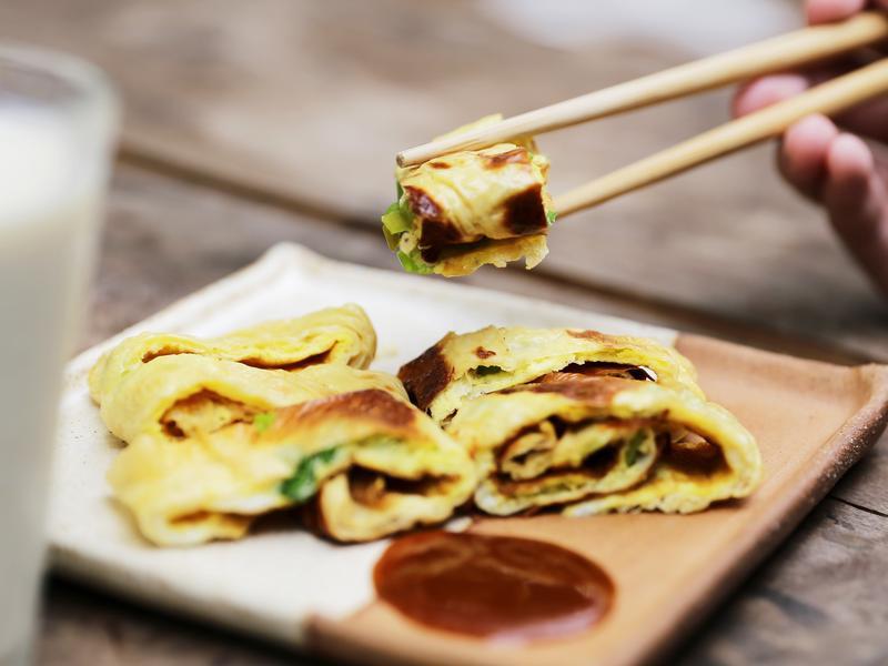 豆皮蛋餅|禾乃川小廚房