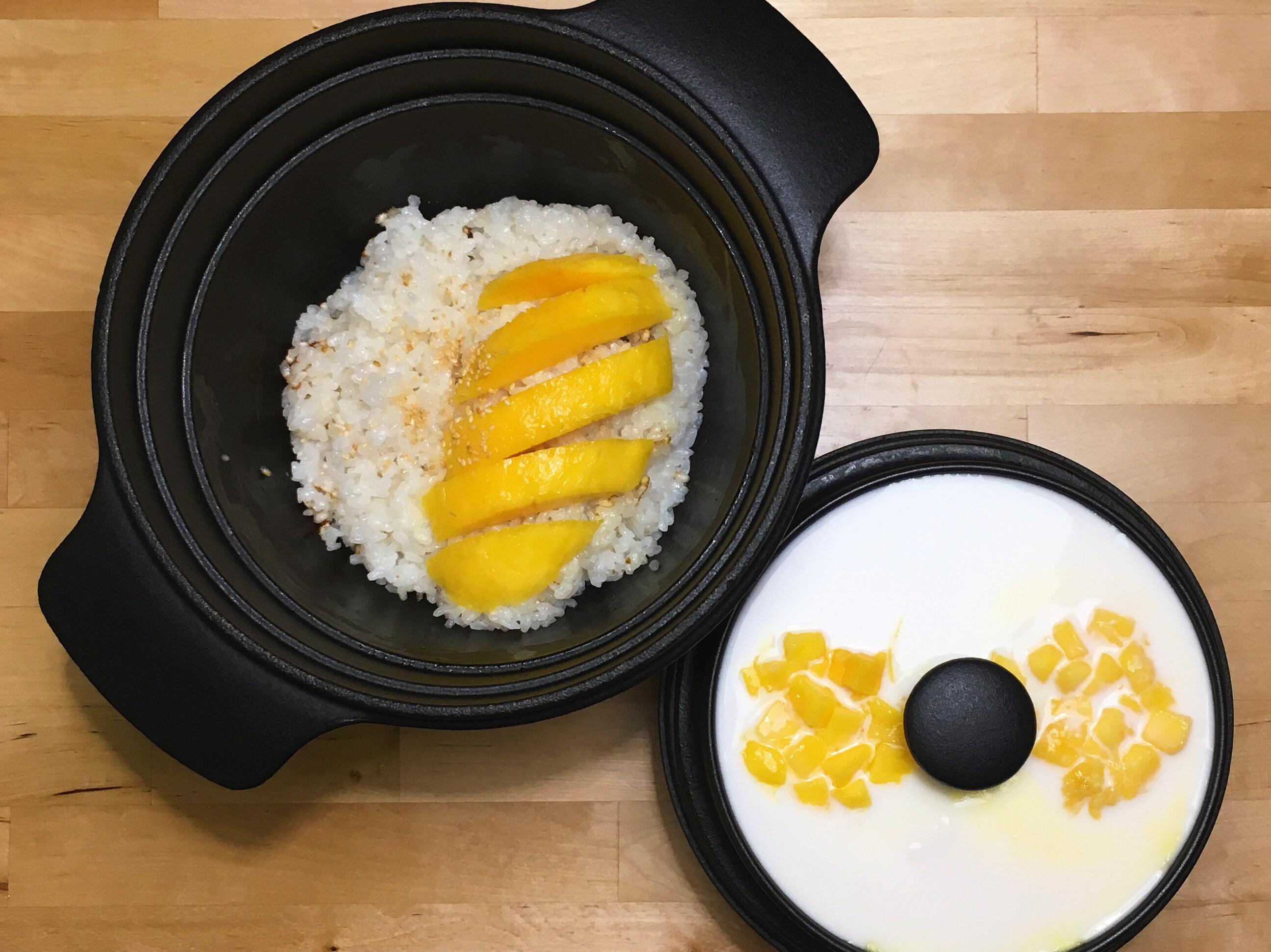 芒果糯米飯+芒果鮮奶蛋布丁