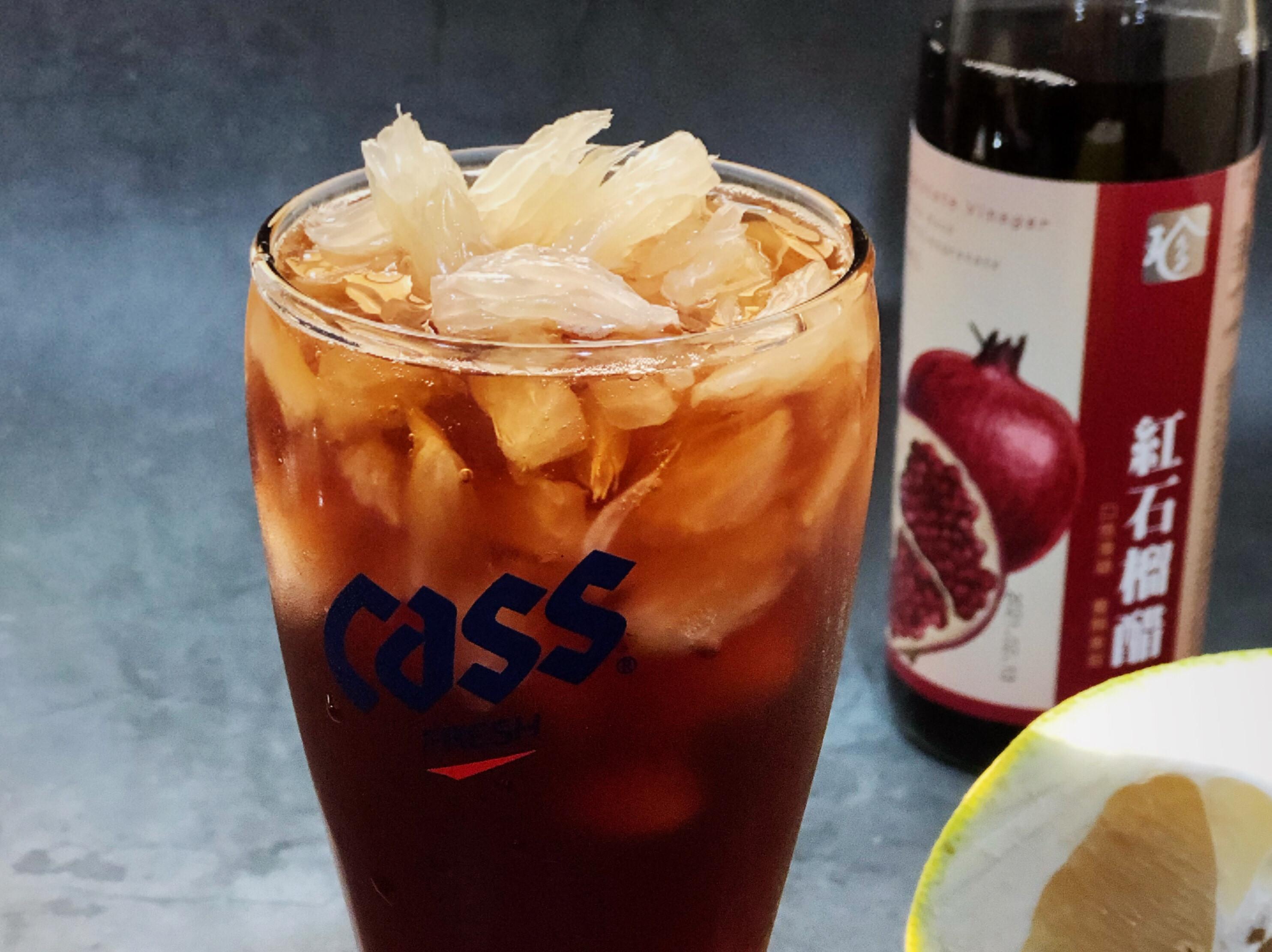 紅石榴果醋飲