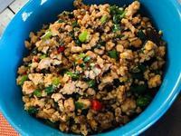 下飯菜-台式蒼蠅頭(韭菜皮蛋豬絞肉)