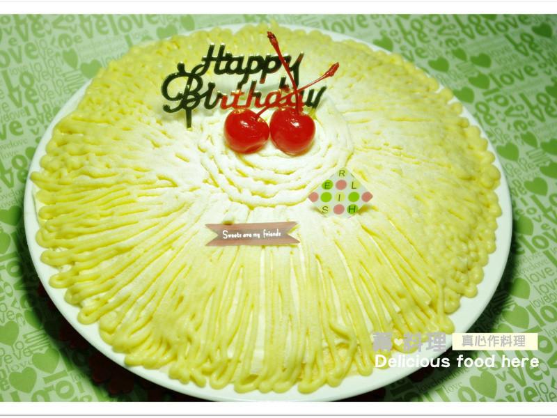 綠豆泥千層蛋糕~免烤箱