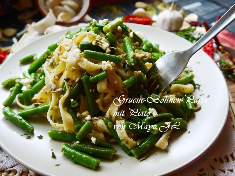 四季豆青醬義大利麵