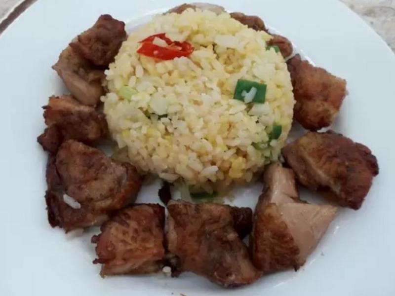 豬排&雞腿排蛋炒飯~中華二店-2 氣炸鍋