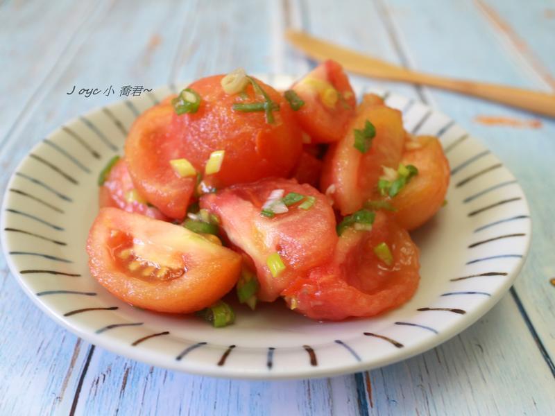 (減醣)香蔥油醋蕃茄溫沙拉