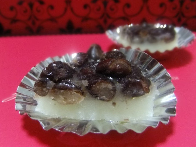 【四季江戶味之秋季料理】和果子-椰奶紅豆水無月