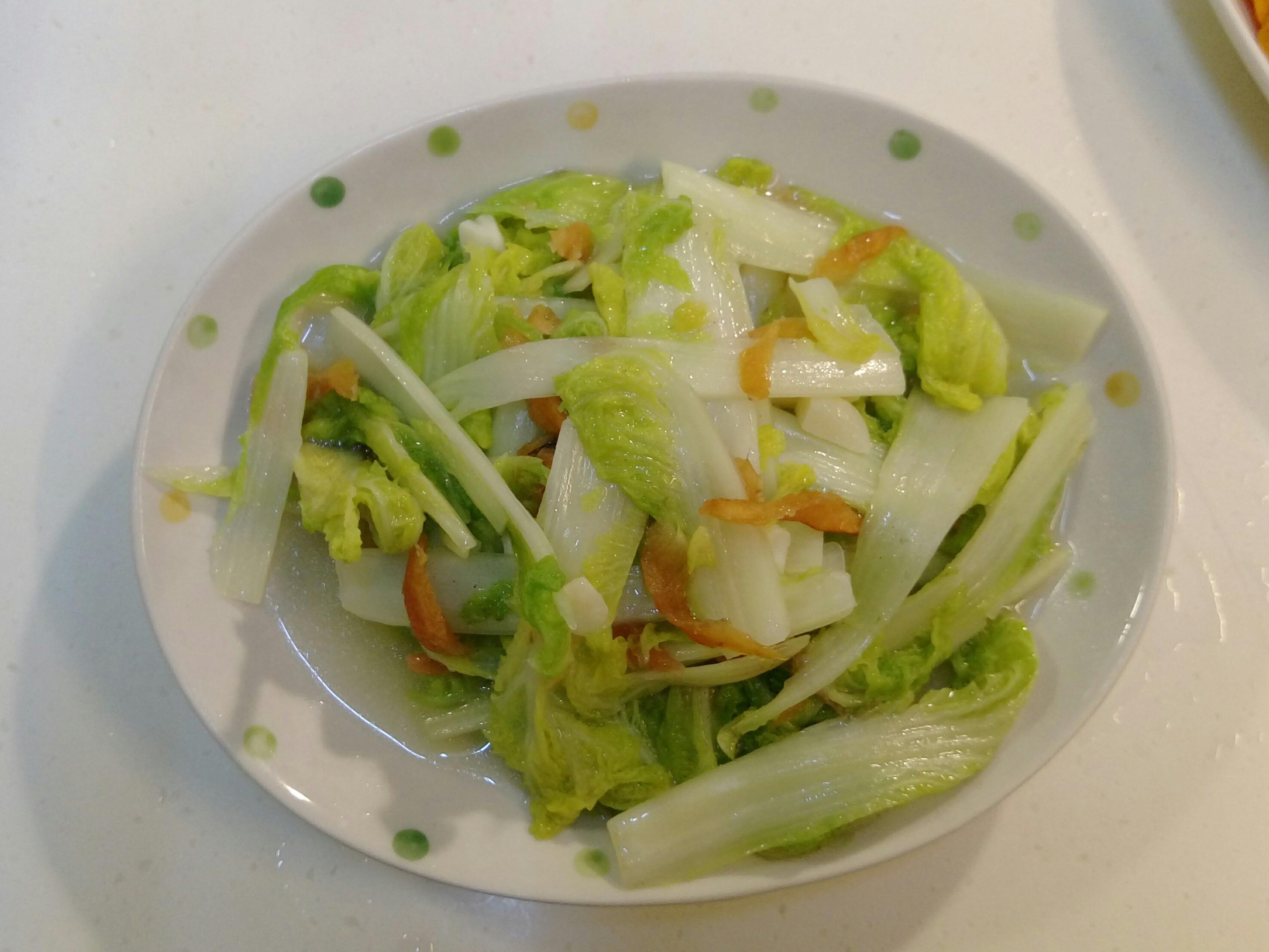 低醣料理-扁魚干炒娃娃菜