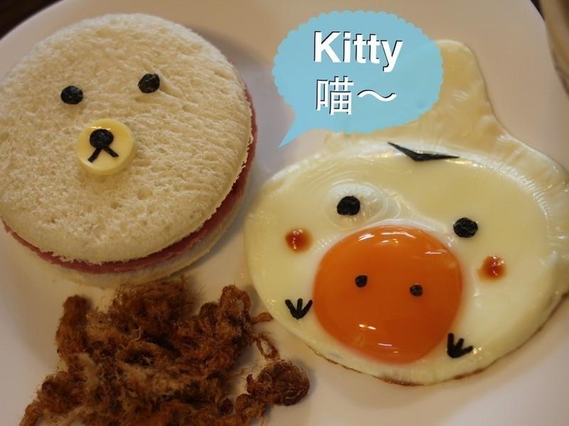 Kitty喵-小雞吐司餐