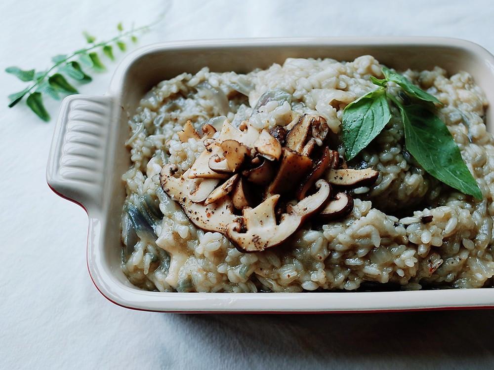香蒜野菇燉飯