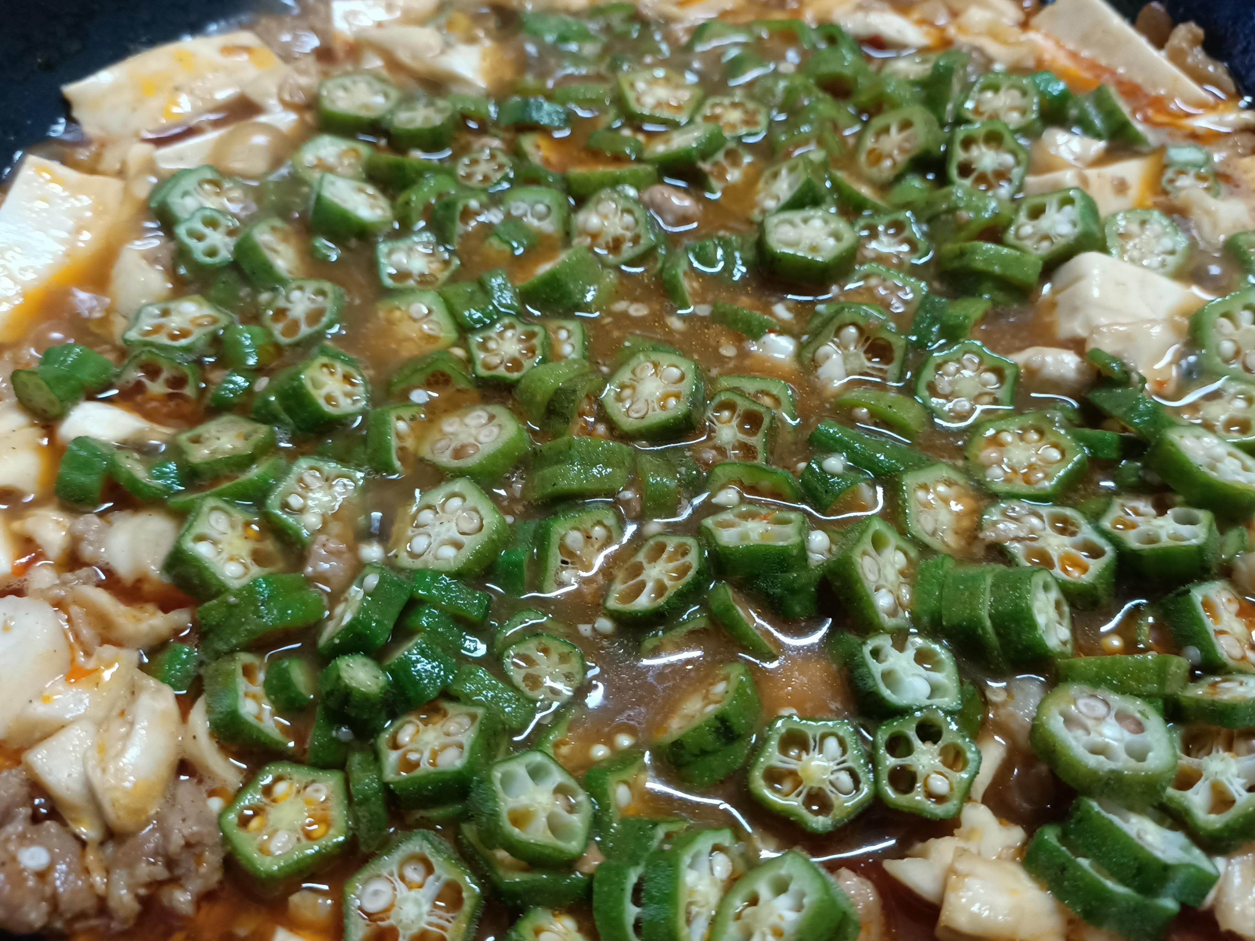 麻婆豆腐(秋葵版)