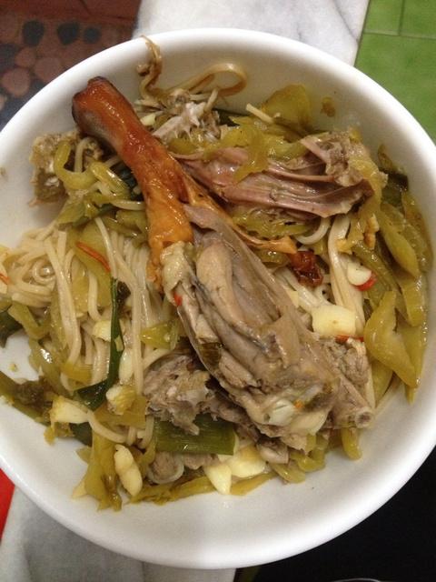 DIY家常麵料理-炒烤鴨燕麥麵