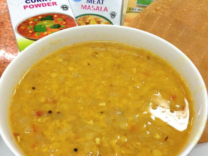 尼泊爾料理。華麗香料橘扁豆燉湯Dal(4人份)