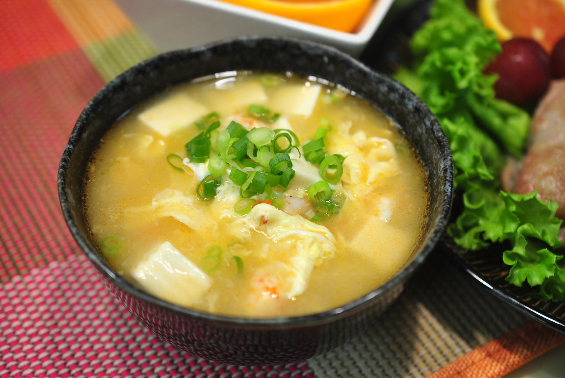 鮮蝦豆腐蛋花羹