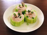 清蒸蛤蜊絲瓜鑲肉