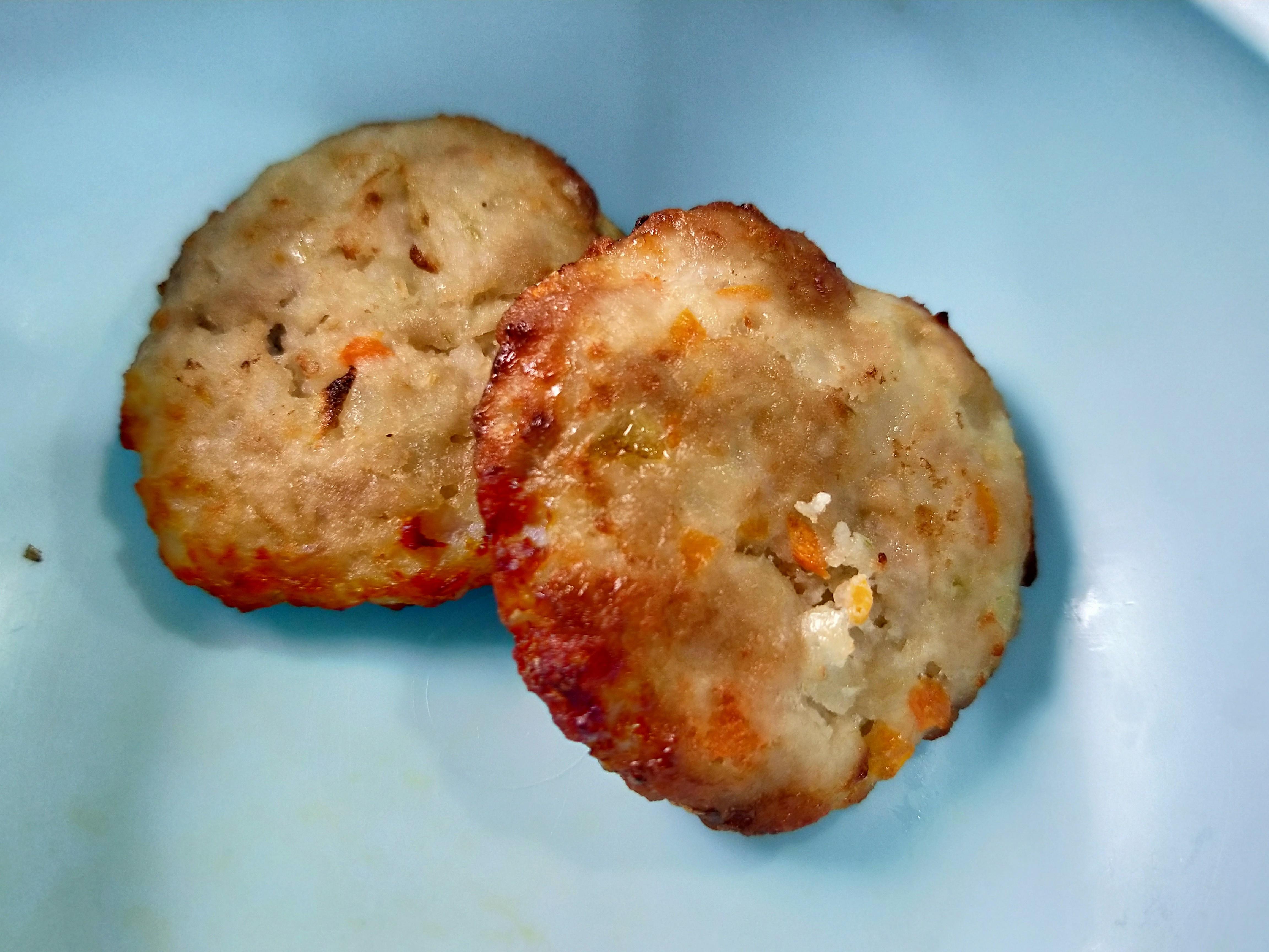 氣炸鍋副食品-寶寶漢堡排