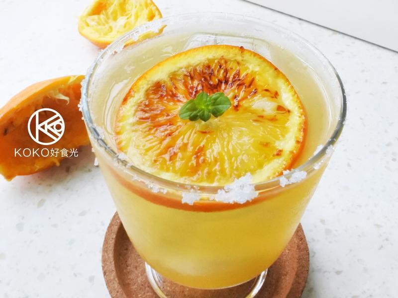 焦糖柳橙龍舌蘭氣泡調酒