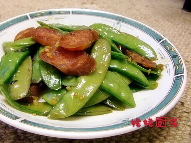 荷蘭豆炒香腸