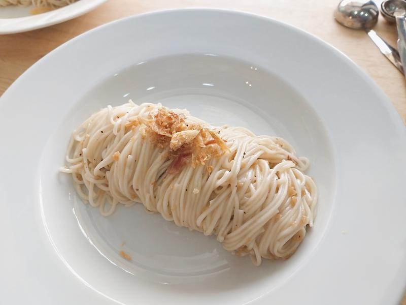 紅蔥酥鯷魚細關東麵/義大利麵
