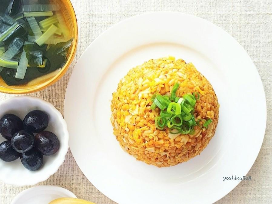 無國界料理 納豆泡菜炒飯