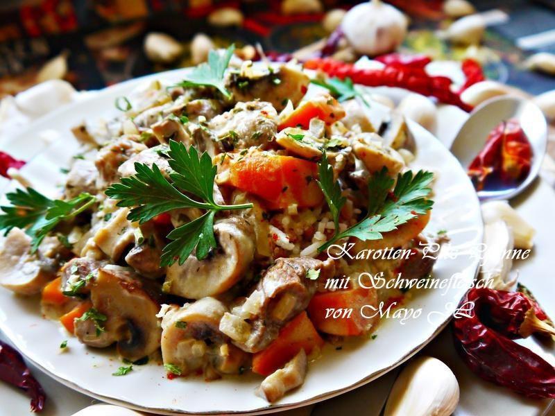 蘑菇胡蘿蔔炒豬肉