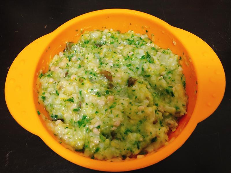 寶寶副食品-南瓜豬肉菜菜粥(8M以上)