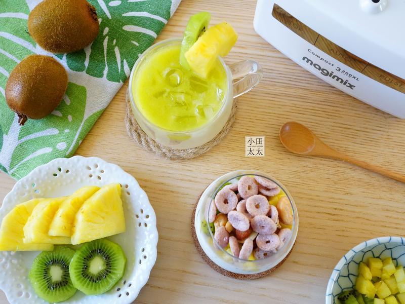 奇異果鳳梨果汁&水果麥片優格