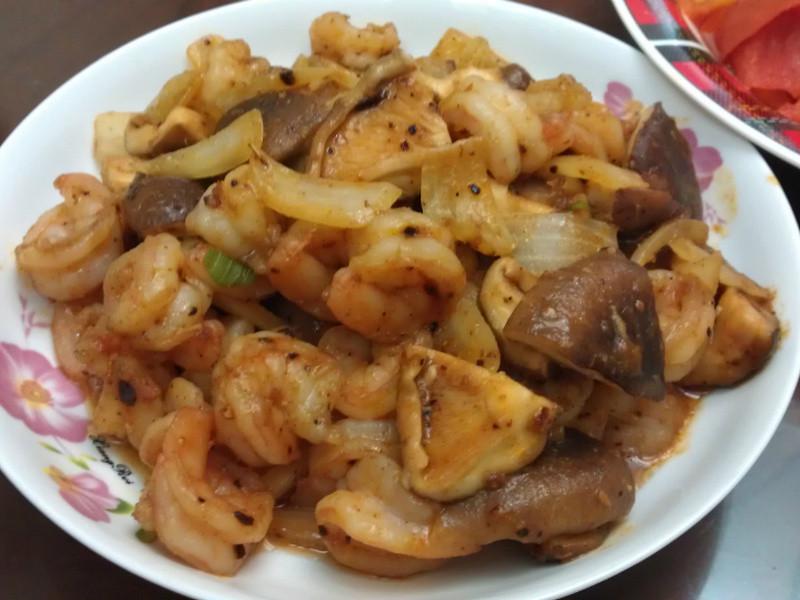 沙茶蝦仁鮮菇