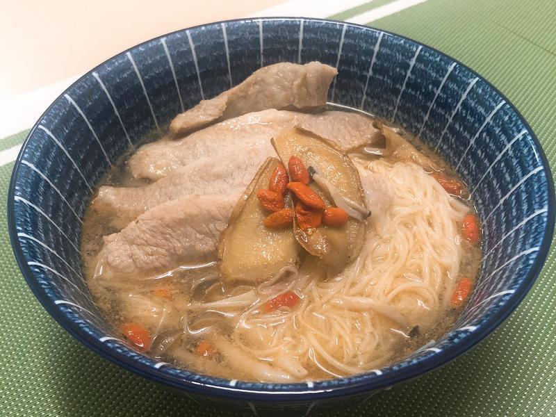 麻油松阪豬+麵線