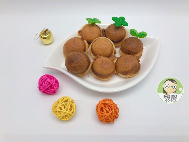 優格起司脆皮小蛋糕~親子烘焙