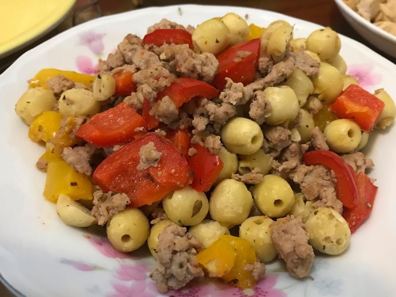 蓮子彩椒炒絞肉