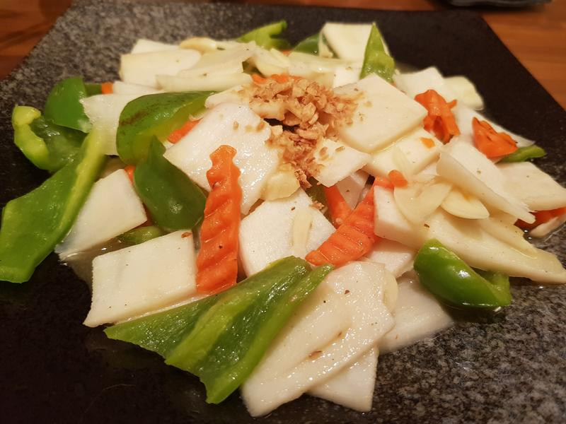 三色時蔬-筍片燴青椒