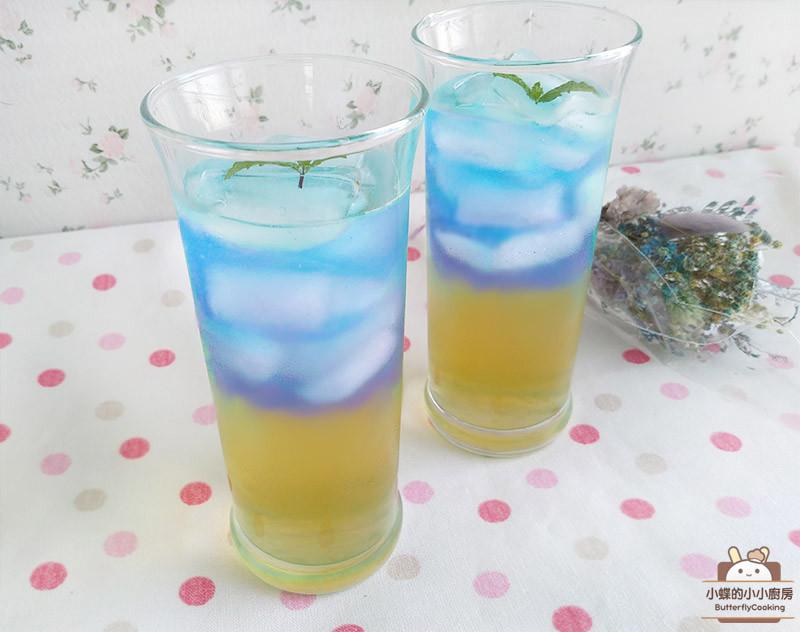 蝶豆蜂蜜蘆薈醋飲