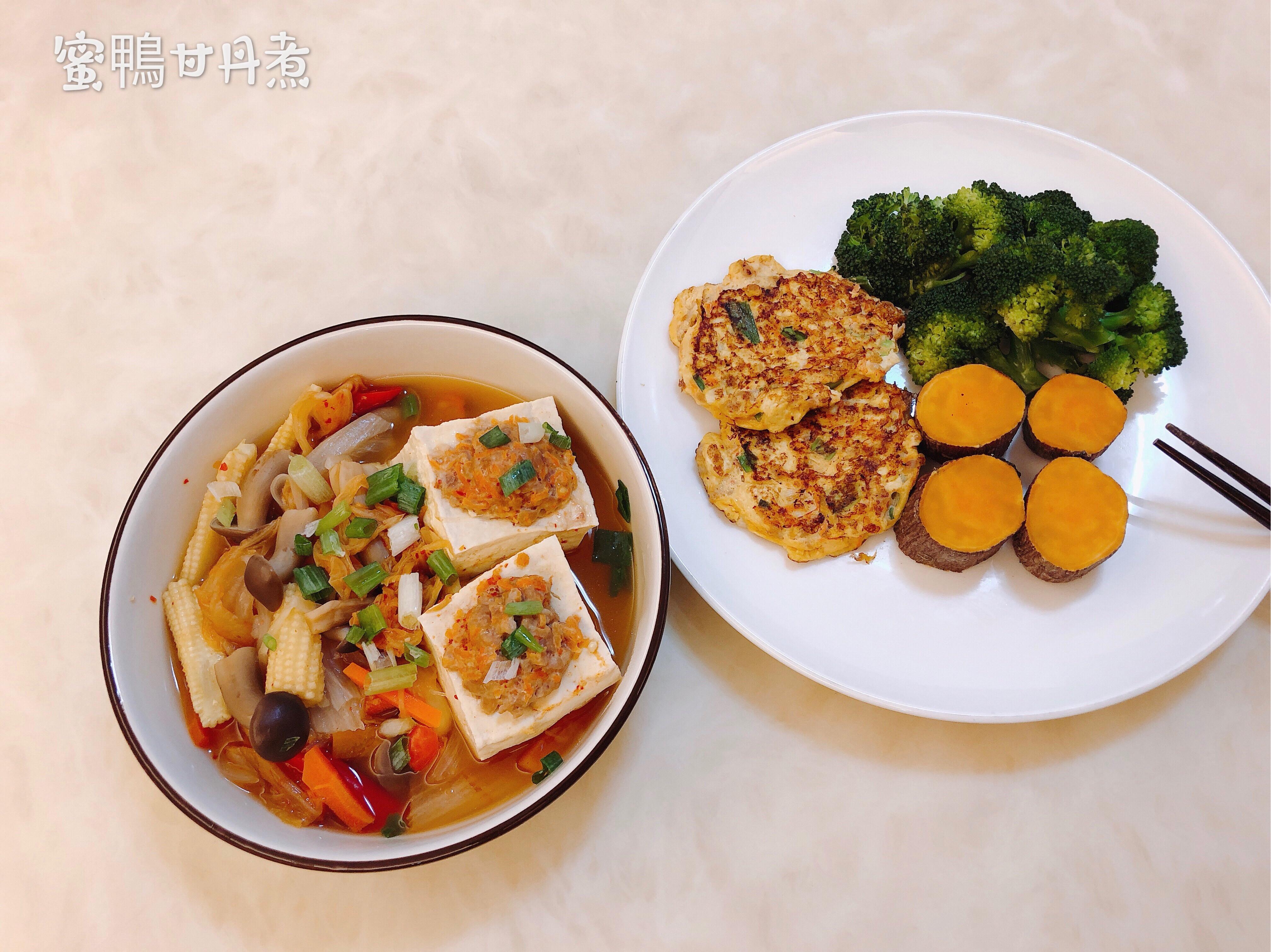 ❤️泡菜豆腐鑲肉煲&❤️豆腐蛋肉餅