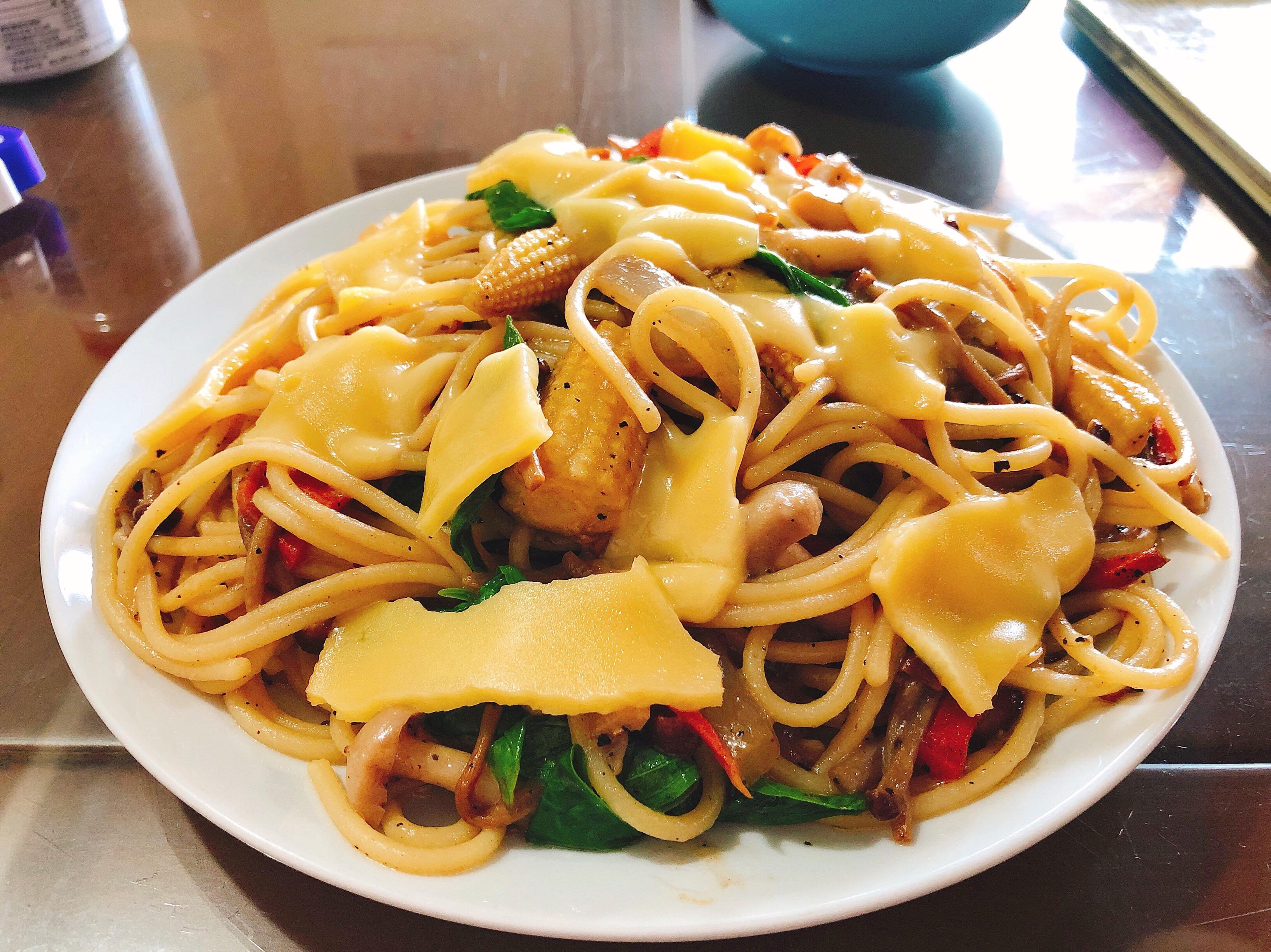 野菇義大利麵(蔬食.可素)
