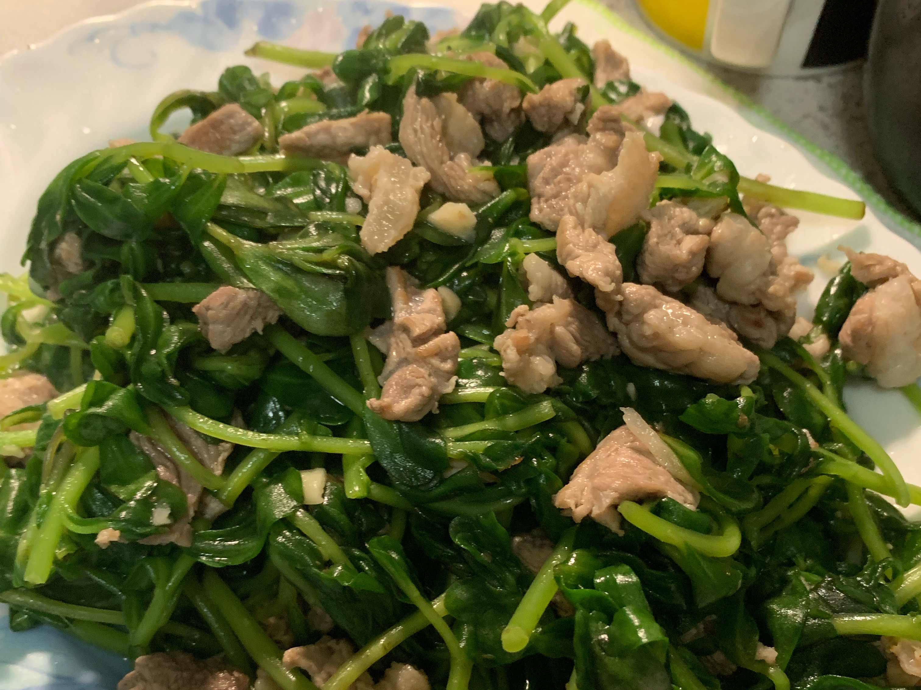 懷念的味道:豬母奶炒肉(馬齒莧)