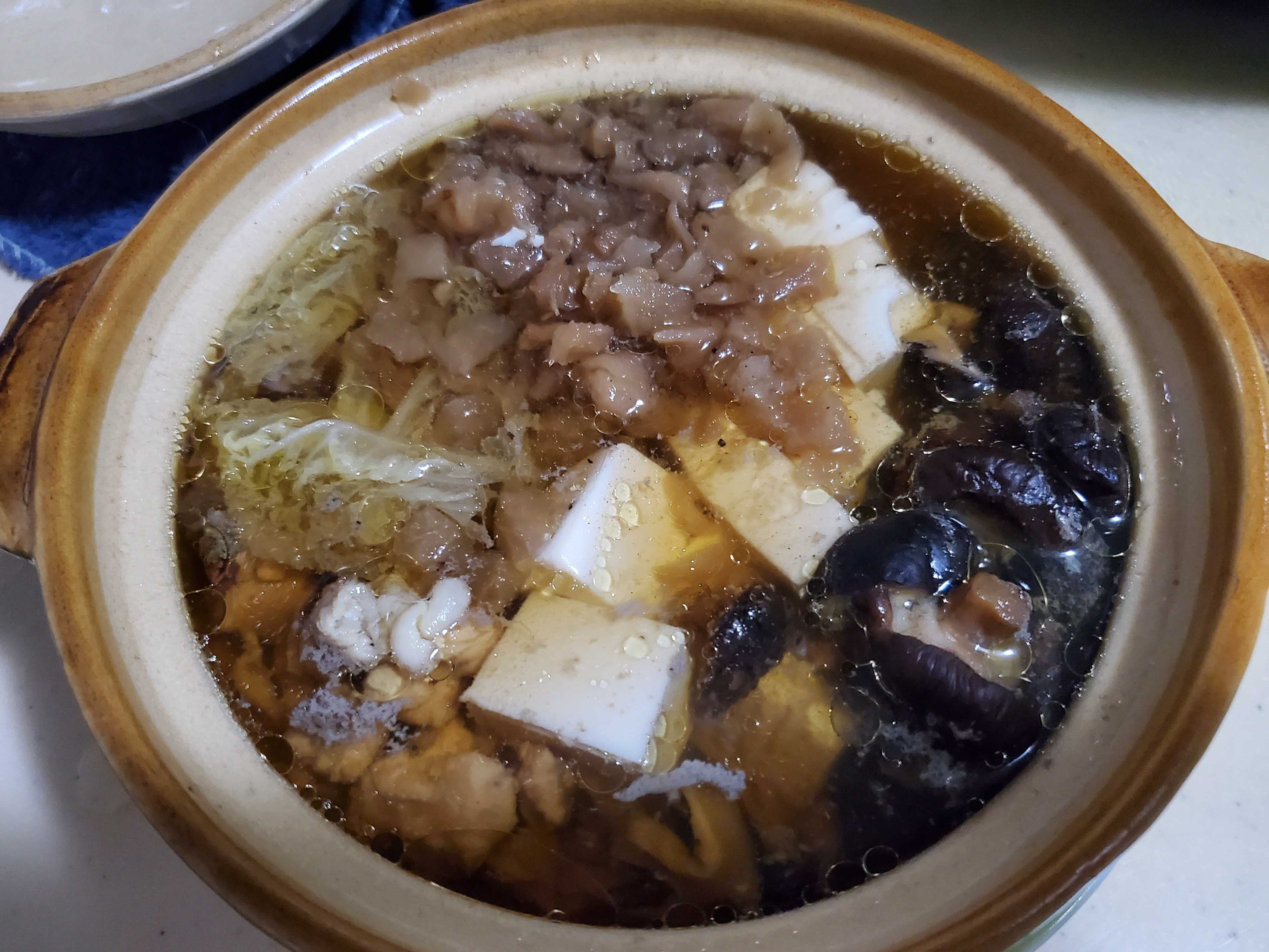 <電鍋簡易版>菜脯香菇雞湯