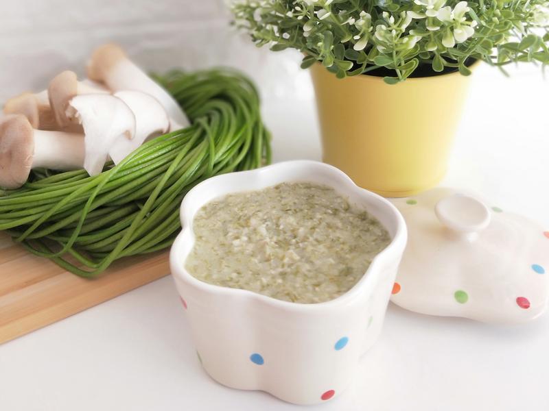 【寶寶食譜】水蓮豬肉菇粥