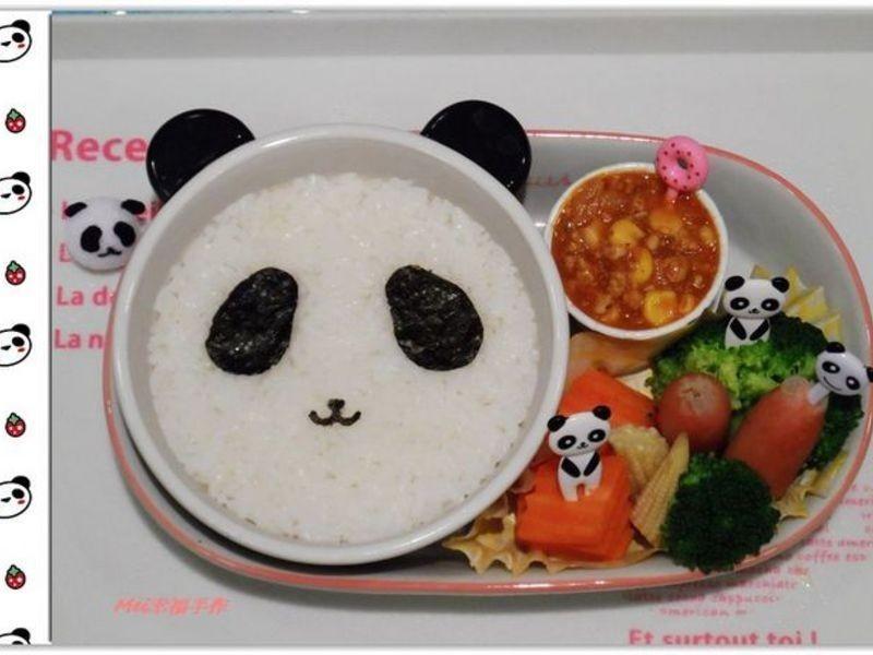 【親子食堂】熊貓義大利肉醬飯飯