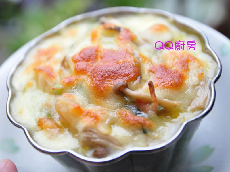 【囍瑞橄欖油料理】焗烤奶油菇菇白菜