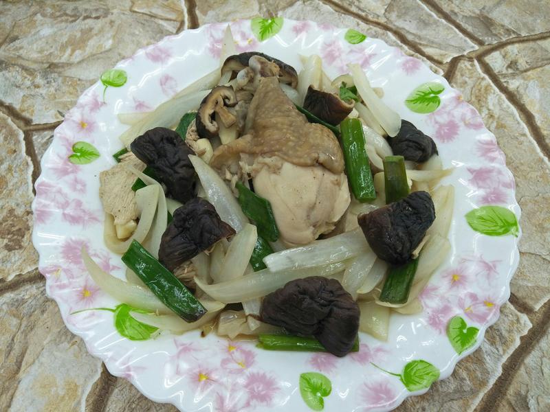 蔥燒香菇雞~中華二店-2氣炸鍋