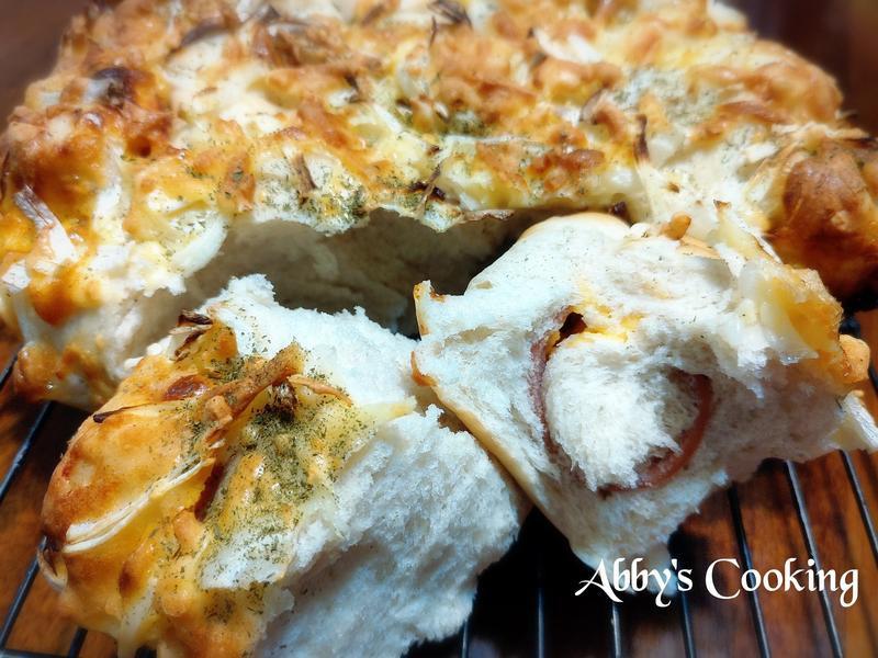 全麥洋蔥起司火腿手撕麵包