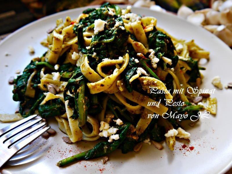 菠菜青醬義大利麵