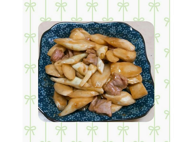 茭白筍炒肉片🍱