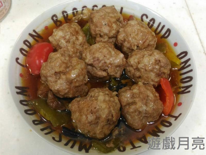 懶人版獅子頭(電鍋菜)